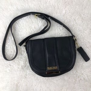 Kenneth Cole Reaction Black Leather Crossbody